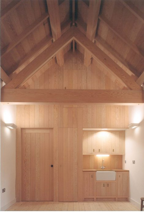 Church hall extension interior